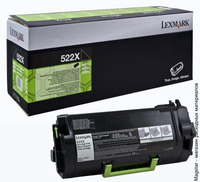 Картридж Lexmark 52D0XA0 / 52D5X00 / 52D5X0E Extra High Yield Return Program для MS711 / MS811 / MS812, 45000 страниц, черный