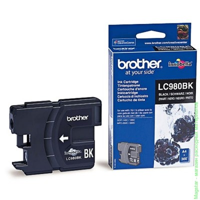 Картридж Brother LC980BK для DCP-145C / DCP-165 / DCP-195C / DCP-375CW / MFC-250C / MFC-290C