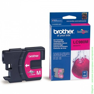 Картридж Brother LC980M для DCP-145C / DCP-165 / DCP-195C / DCP-375CW / MFC-250C / MFC-290C